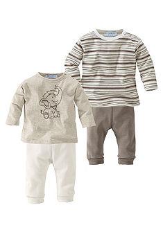 Klitzeklein 2 ks tri�ko s dlouh�m ruk�vem a 2 ks kalhoty (Souprava, 4d�ln�)