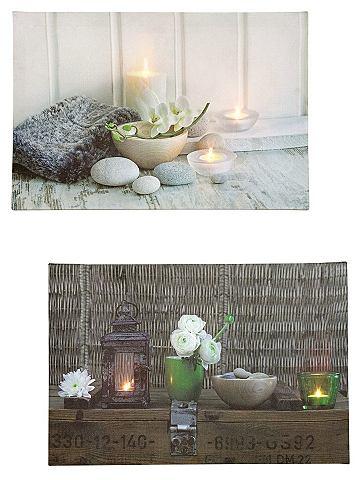heine home LED Obrázky (2 ks) pestrobarevná