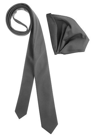 BRUNO BANANI John Devin Kravata a ozdobný kapesník (Souprava, 2dílná) černá - standardní velikost