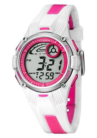 "Calypso CALYPSO WATCHES, Sportovní náramkové hodinky, ""K5558/2"" bílá/růžová"