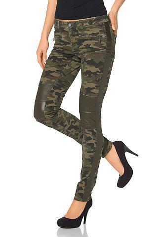 Laura scott Laura Scott Trubkové kalhoty maskovací barva - standardní velikost 46