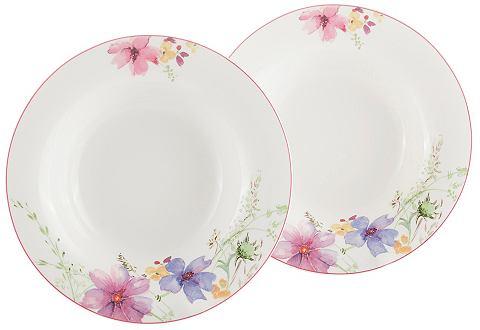 Villeroy & Boch Polévkový talíř, Villeroy & Boch »květinový dekor« (2 ks)