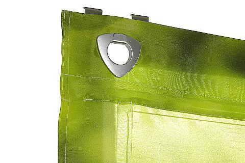 Fotografie heine home Řasený závěs zelená - háčky a očka cca 140x120 cm