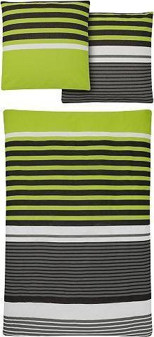 My Home Ložní prádlo, my home, »Lucca« zelená - 2x40/80 cm - linon 2x135/200 cm