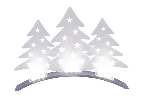 Star trading Stolní dekorace s LED bílá, se stříbrnou bází