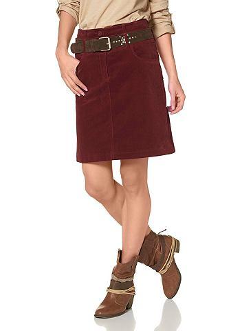 Cheer Cheer Manšestrová sukně rezavá - standardní velikost 34