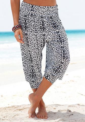VENICE BEACH Venice Beach Pumpkové kalhoty leopardí potisk 52/54