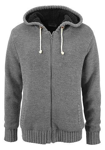 John Devin Pletený svetr s kapucí