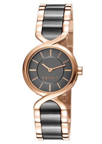 Esprit Dámské náramkové hodinky, Esprit zlatorůžová-šedá