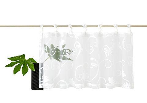 My Home Panelové závěs, my home »Bahia« (1 ks) bílá - průsvitná - s oušky 1 (VxŠ: 30x90 cm)