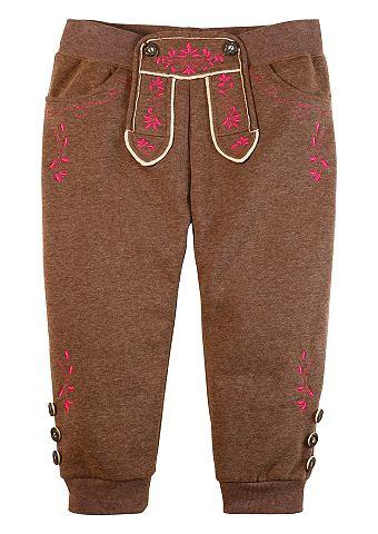 Krátké kalhoty, kožený vzhled, Krüger Madl hnědá/pink L (42/44)