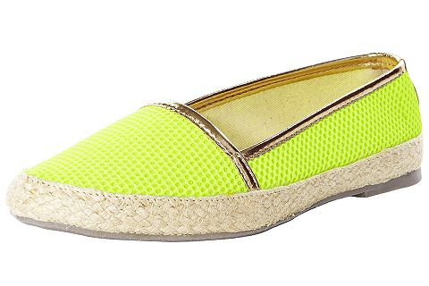 HEINE Plátěné boty neonově žlutá 38