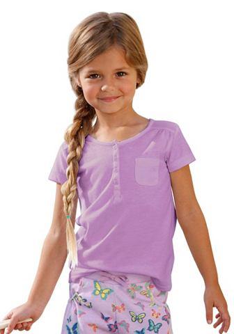 CFL CFL Tričko s légou na knoflíky, pro dívky šeříková - standardní velikost 92/98
