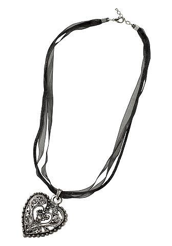 J.Jayz Řetízek stříbrná barva/černá - standardní velikost