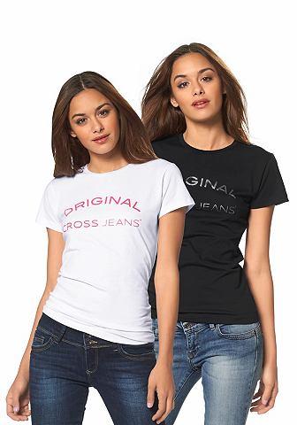 CROSS JEANS Cross Jeans® Tričko černá+bílá - standardní velikost XS (34)