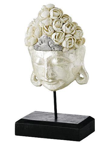 heine home Dekorační figúra- Buddha bílá - VxŠxT cca 32x15x10 cm, malé