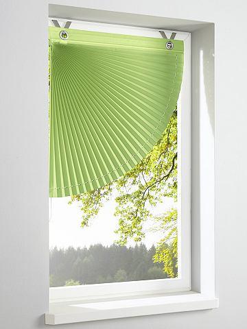 Fotografie heine home Látková roleta zelená - háčky a očka, (B) cca 46x40 cm