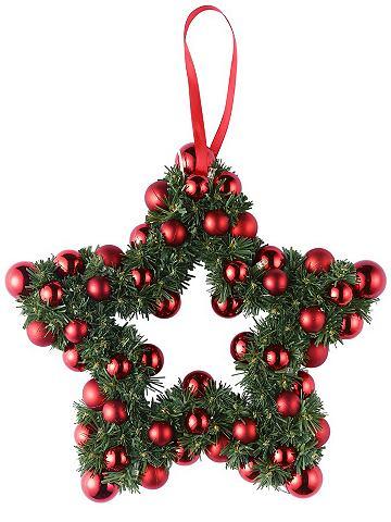 heine home Vánoční dekorace zelená/červená - cca 30 cm, málo