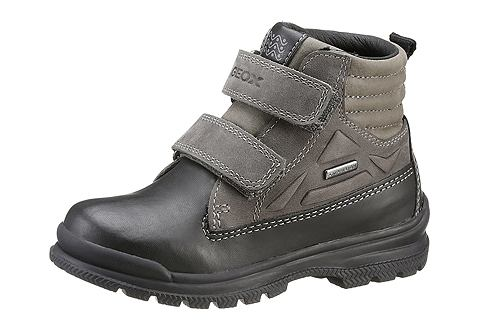 GEOX KIDS Geox Kids Dětská obuv na suchý zip černá-písková 33