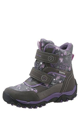GEOX KIDS Geox Kids Dětská obuv na suchý zip šedá/fialová 35