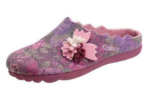 GABOR Domácí obuv růžová/pestrá 39