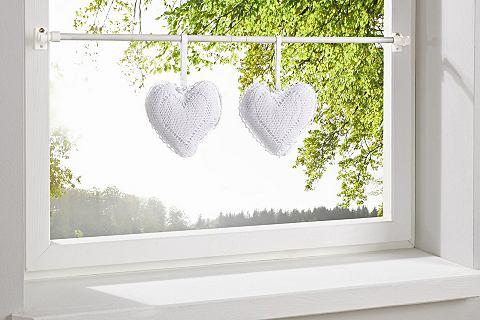 heine home Dekorace - srdce bílá - se slučky cca 13x13 cm