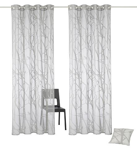 Záclona, my home »Glinde«, (2 ks), zdarma i povlak na polštář
