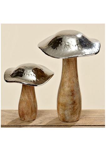 Dekorativní houby (2-dílný set) dřevěný vzhled/metalíza