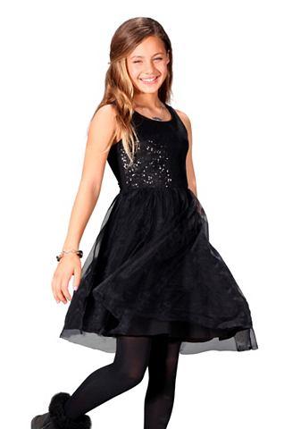 Buffalo Šaty, pro dívky černá - standardní velikost 128/134