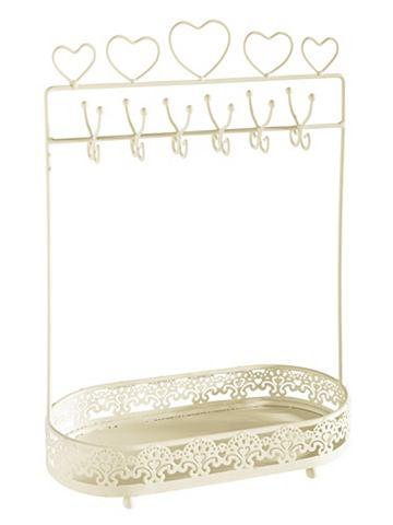 heine home Stojan na šperky krémová/bílá - cca 34,5x23,5x11,5 cm