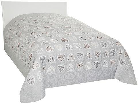 Dreams Přehoz na postel šedá/hnědá - syntetický 140x210 cm