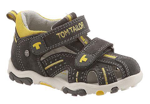 Tom Tailor Sandály šedá/žlutá 26