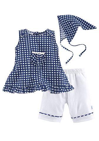 Klitzeklein Šaty, kalhoty a šátek károvaná - standardní velikost 98