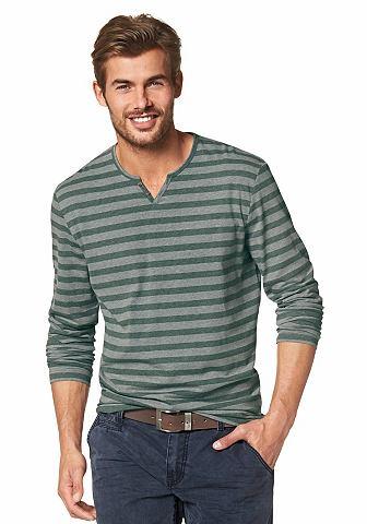 TOM TAILOR Tričko s dlouhým rukávem zelená - standardní velikost XL (56)