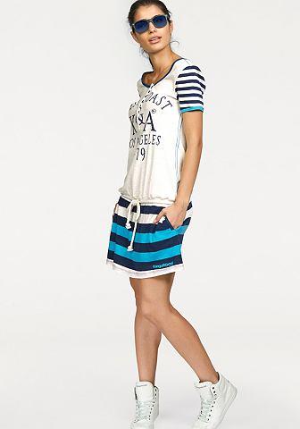 Kangaroos® Kangaroos Šaty bílá/modrá - standardní velikost 46