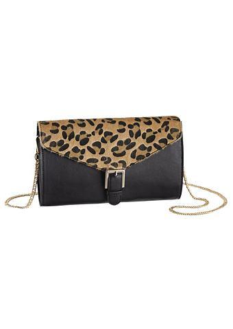Melrose Kabelka černá/leopardí potisk