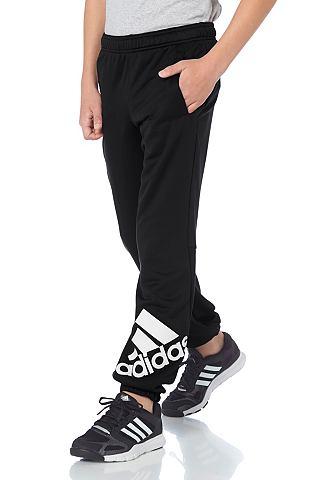 adidas Performance adidas Performance LOCKER ROOM BRAND LOGO PANT Sportovní kalhoty černá - standardní velikost 128(122)