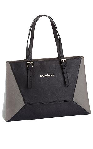 Bruno Banani Kožená taška černá