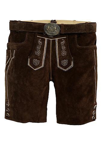 Krátké krojové kožené kalhoty s vyšívanými prvky, Country Line