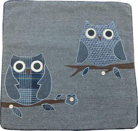 Potah na polštář šedá/modrá - 95 % polyester, 5% vlna 1x40/40 cm