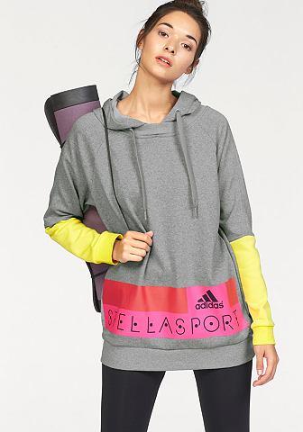 adidas Performance STELLASPORT LONG HOODY Mikina s kapucí