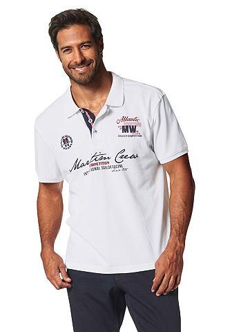 Man's World Man 's World Tričko s límečkem bílá - standardní velikost S (44/46)