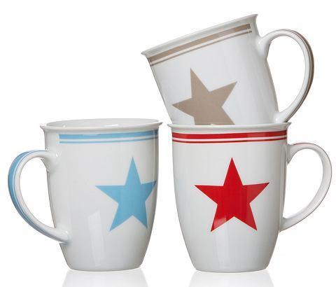 Flirt by R&B Set šálků na kávu značky Flirt by R&B »Modern Stars« bílá/pestrobarevná