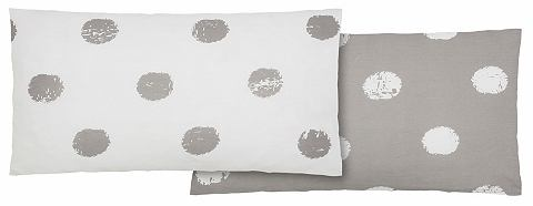 Home Affaire Collection Potah na polštář, Home affaire Collection, »Perie« s puntíky šedá/bílá - žerzej 1 ks 40x80 cm