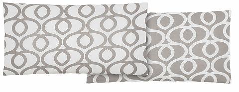 Home Affaire Collection Potah na polštář, Home affaire Collection, »Jamon« šedá/bílá - žerzej 1 ks 40x80 cm