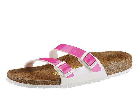 Birkenstock Birkenstock Pantofle, »YAO« pink/bílá 43