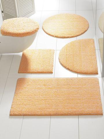 heine home Koupelnové koberečky žlutá/bílá Sada: potah na víko ca.47x50cm+ca.45x50cm bez výřezu