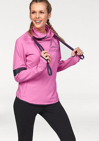 REEBOK Sportovní tričko s dlouhým rukávem pink - standardní velikost S (34/36)