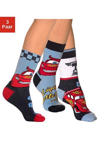 Disney Cars Ponožky, Disney 3ks setříděné podle barev 31-34