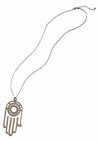 J.Jayz Řetízek stříbrná barva/hnědá - standardní velikost